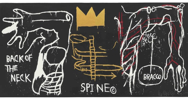 Jean Michel Basquiat Back of the Neck 1983