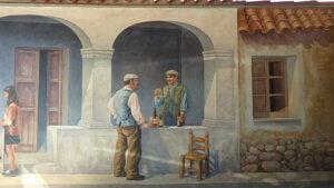 San Sperate murales Angelo Pilloni Portico con Bambini