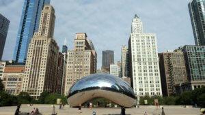 Anish Kapoor Cloud Gate millennium park chicago statue arte pubblica