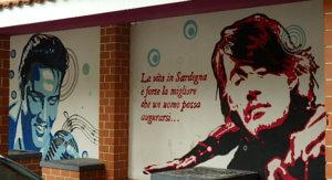 San Gavino Music Square Fabrizio De Andre murales
