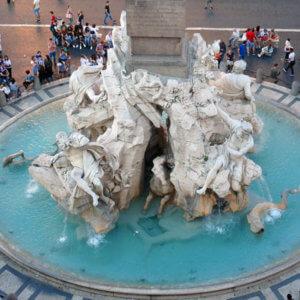 Roma Fontana dei Fiumi Piazza Navona