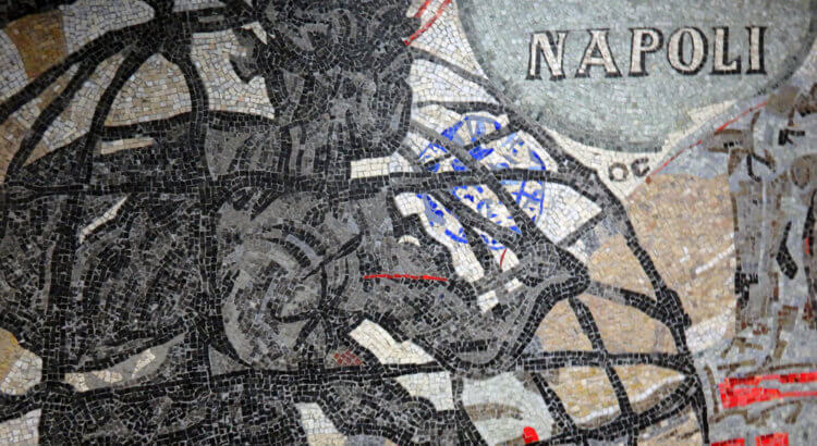 william kentridge mosaico stazione metro toledo napoli
