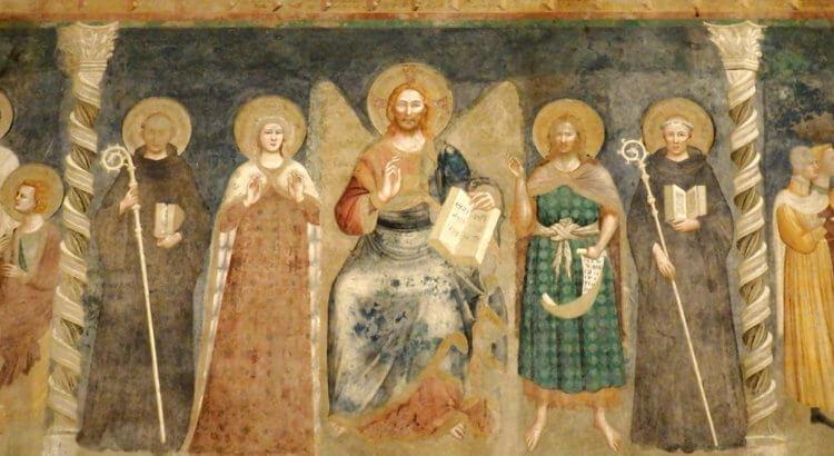 abbazia pomposa refettorio affreschi scuola giottesca riminese