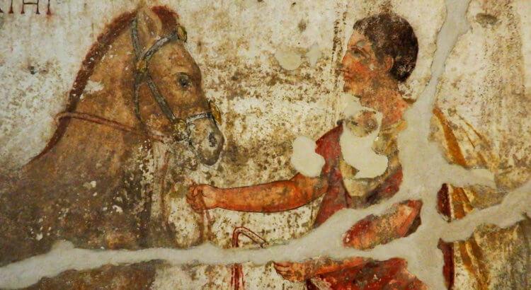 affreschi messapici ignazia museo archeologico