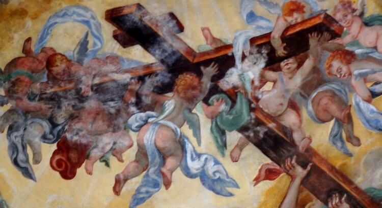duomo di lecce cappella del crocifisso affresco volta