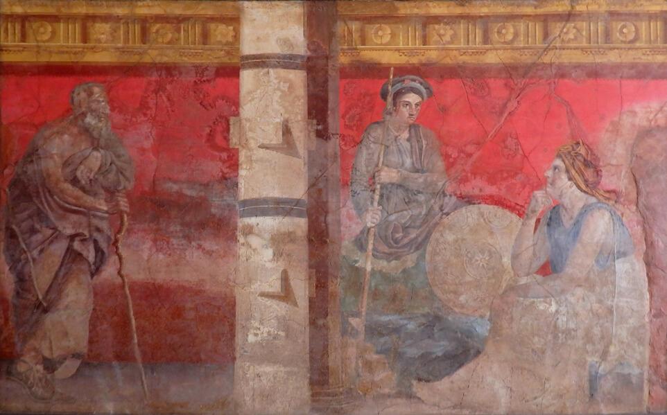 museo archeologico napoli affreschi villa di boscoreale corte ellenistica