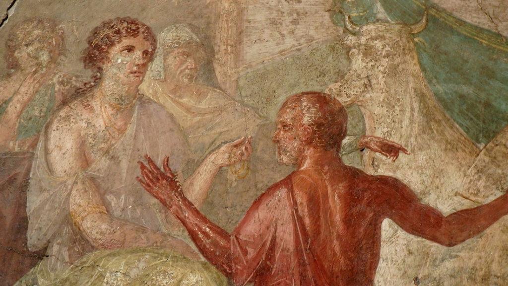 Pompei Casa dei Vettii Affresco Dedalo Pasifae