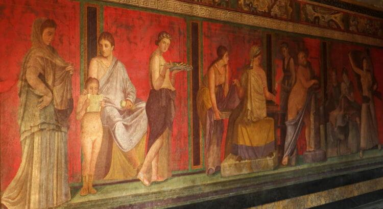Pompei Villa Misteri Affreschi Triclinio