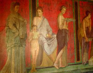 Pompei Villa Misteri Affreschi Sala Triclinio