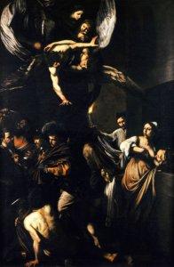 caravaggio sette opere di misericordia napoli pio monte della misericordia