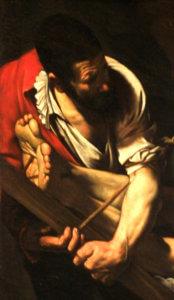 caravaggio santa maria del popolo crocifissione di san pietro