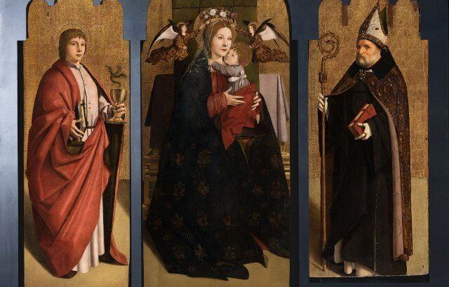 Antonello da Messina Polittico Vergine con i Dottori della Chiesa Uffizi Firenze