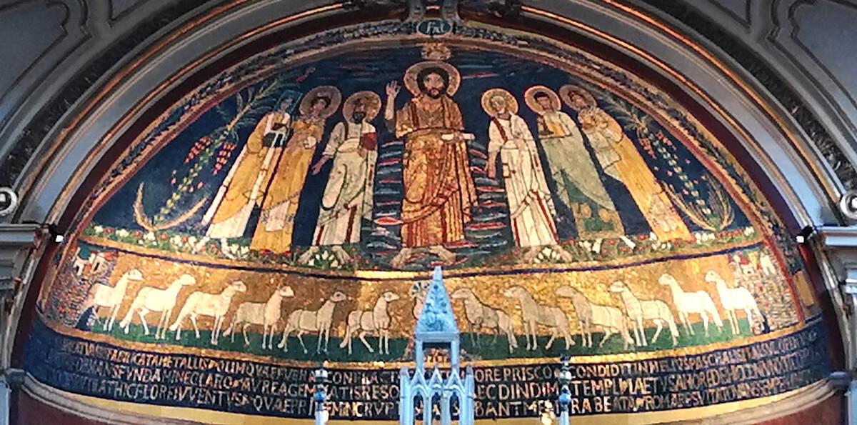 mosaico chiesa santa cecilia roma