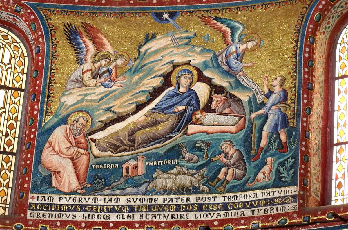 pietro cavallini mosaici santa maria in trastevere