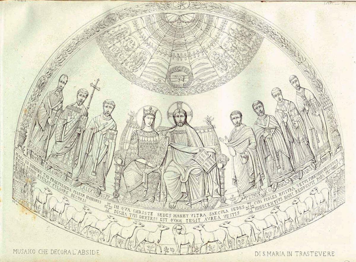 mosaico abside santa maria in trastevere