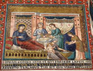 mosaici cristiani roma santa maria in trastevere pietro cavallini