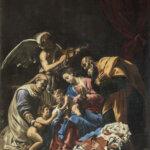 Orazio Borgianni Sacra Famiglia con Sant'Elisabetta San Giovannino e un angelo