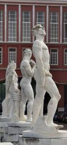 roma foro mussolini stadio dei marni statue scalatore aosta